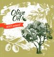 Vintage olive background Hand drawn vector image