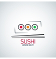 sushi roll plate menu background vector image