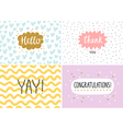 Happy cards set vector image vector image