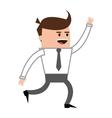happy businessman icon vector image