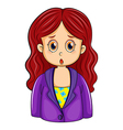 A redhead businesswoman vector image