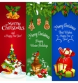 Christmas New Year Winter Holidays banners vector image