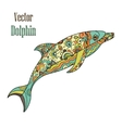 dolphin doodle vector image