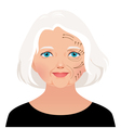 Elderly woman cosmetic rejuvenation vector image