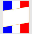 frame on the background of the flag france vector image