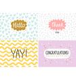 Happy cards set vector image