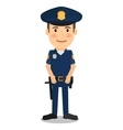 Policeman character vector image