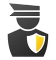 Policeman Gradient Icon vector image