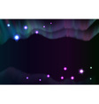 Shiny curve aurora light in night abstract vector image