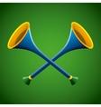 sports bugles design vector image