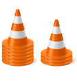Piles of road cones vector image vector image
