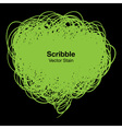 Scribble green bubble vector image