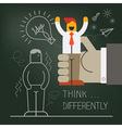 Hand pick up businessman manikin vector image