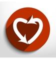 dating arrow web icon vector image
