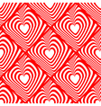 Design seamless red heart background vector image