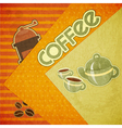 Template orange menu of coffee vector image