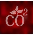 co2 sign dioxide icon on blurred background vector image