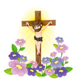 Crucified Jesus vector image