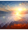 Abstract sunset light round technology mosaic vector image