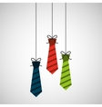 celebration happy fathers day tie hanging vector image
