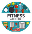 fitness sport and gym design vector image