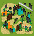 paintball match isometric vector image