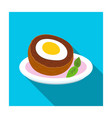 scotch eggs icon in flat style isolated on white vector image