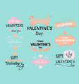 set of valentine s day vector image