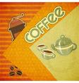 Template orange menu of coffee vector image