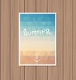 Vintage summer poster vector image