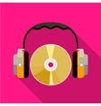 CD and headphones icon vector image