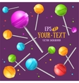 Lollipop Sugar Candy Background vector image