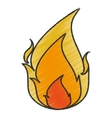 Isolated flame design vector image