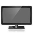 Trendy black monitor eps10 vector image