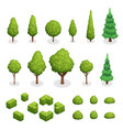 park plants isometric set vector image