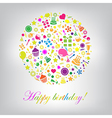 Colorful Happy Birthday Card vector image vector image