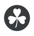 Monochrome round clover icon vector image