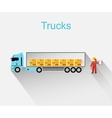 Trucks Lorry Icon Design Style Flat vector image