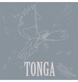 Tonga Dove Retro styled image vector image