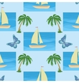 ship palms and butterflies vector image vector image