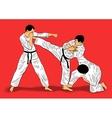 ju-jutsu fighters vector image