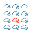 Different forecast icons set with rounded corners vector image vector image