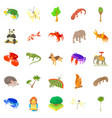 animal husbandry icons set cartoon style vector image