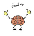 brain character giving a thumb up vector image