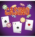 Casino gambling game vector image