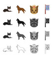 dog domestic animal and other web icon in vector image