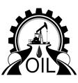 Icon oil industry vector image