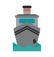 steam boat ship transport vector image