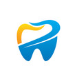tooth dental healthcare logo vector image