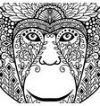 zentagle monkey head with ethnic motifs vector image
